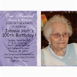 100th birthday - 5  x 7  Photo Cards