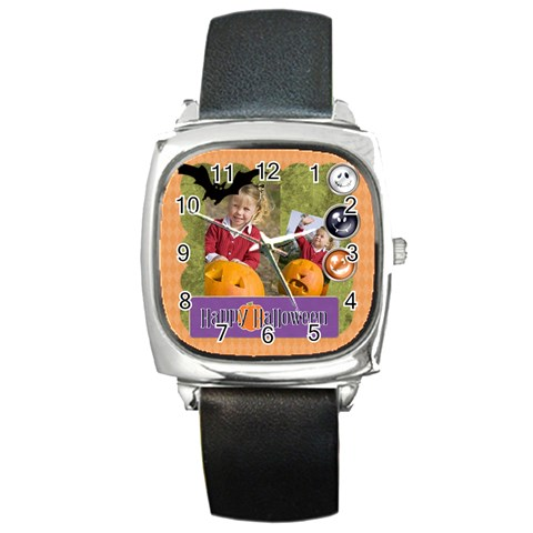 Helloween Fall By Helloween   Square Metal Watch   X4aim8p413yr   Www Artscow Com Front