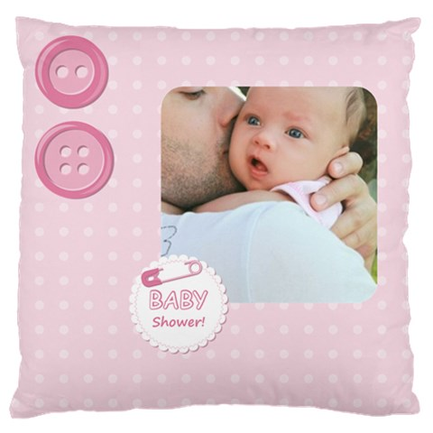 Baby By Baby   Large Cushion Case (one Side)   5vi6shp4p3aw   Www Artscow Com Front
