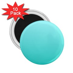 Celeste To Turquoise Gradient 2 25  Button Magnet (10 Pack) by BestCustomGiftsForYou