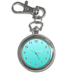 Celeste To Turquoise Gradient Key Chain & Watch by BestCustomGiftsForYou