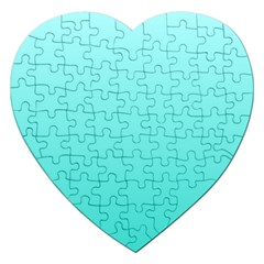 Celeste To Turquoise Gradient Jigsaw Puzzle (heart) by BestCustomGiftsForYou