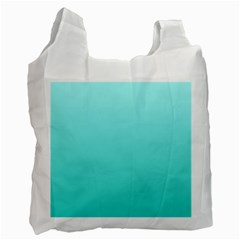 Celeste To Turquoise Gradient Recycle Bag (two Sides) by BestCustomGiftsForYou