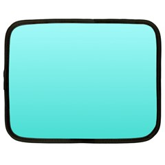 Celeste To Turquoise Gradient Netbook Case (xxl) by BestCustomGiftsForYou