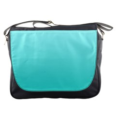 Celeste To Turquoise Gradient Messenger Bag by BestCustomGiftsForYou