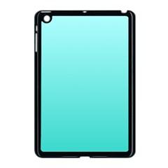 Celeste To Turquoise Gradient Apple iPad Mini Case (Black) by BestCustomGiftsForYou