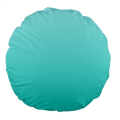 Celeste To Turquoise Gradient 18  Premium Round Cushion  by BestCustomGiftsForYou
