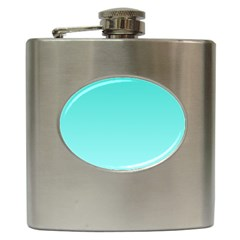 Turquoise To Celeste Gradient Hip Flask by BestCustomGiftsForYou