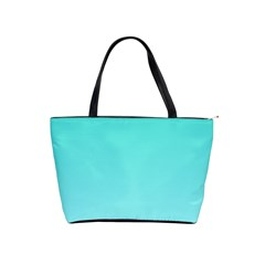 Turquoise To Celeste Gradient Large Shoulder Bag by BestCustomGiftsForYou