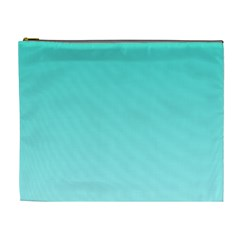 Turquoise To Celeste Gradient Cosmetic Bag (xl)