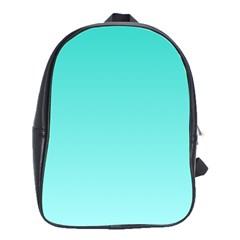 Turquoise To Celeste Gradient School Bag (Large)