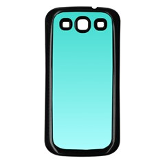 Turquoise To Celeste Gradient Samsung Galaxy S3 Back Case (black) by BestCustomGiftsForYou