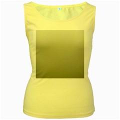 Gainsboro To Roman Silver Gradient Womens  Tank Top (yellow) by BestCustomGiftsForYou