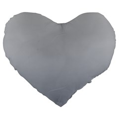 Gainsboro To Roman Silver Gradient 19  Premium Heart Shape Cushion by BestCustomGiftsForYou