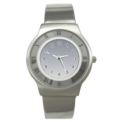 Roman Silver To Gainsboro Gradient Stainless Steel Watch (unisex) by BestCustomGiftsForYou