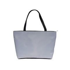 Roman Silver To Gainsboro Gradient Large Shoulder Bag by BestCustomGiftsForYou