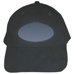 Charcoal To Cool Gray Gradient Black Baseball Cap by BestCustomGiftsForYou