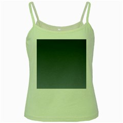 Charcoal To Cool Gray Gradient Green Spaghetti Tank by BestCustomGiftsForYou