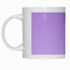 Lavender To Pale Lavender Gradient White Coffee Mug by BestCustomGiftsForYou
