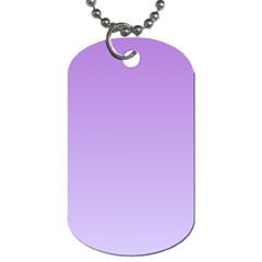 Lavender To Pale Lavender Gradient Dog Tag (two Sided)