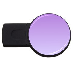 Lavender To Pale Lavender Gradient 4gb Usb Flash Drive (round) by BestCustomGiftsForYou