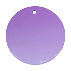 Lavender To Pale Lavender Gradient Round Ornament (two Sides) by BestCustomGiftsForYou