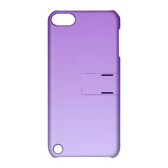 Lavender To Pale Lavender Gradient Apple iPod Touch 5 Hardshell Case with Stand