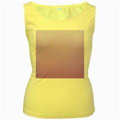 Pale Lavender To Lavender Gradient Womens  Tank Top (yellow) by BestCustomGiftsForYou