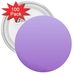 Pale Lavender To Lavender Gradient 3  Button (100 Pack) by BestCustomGiftsForYou