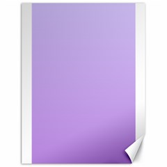 Pale Lavender To Lavender Gradient Canvas 18  X 24  (unframed) by BestCustomGiftsForYou