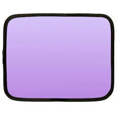 Pale Lavender To Lavender Gradient Netbook Case (large) by BestCustomGiftsForYou