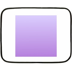 Pale Lavender To Lavender Gradient Mini Fleece Blanket (two Sided) by BestCustomGiftsForYou