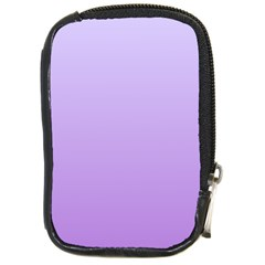Pale Lavender To Lavender Gradient Compact Camera Leather Case