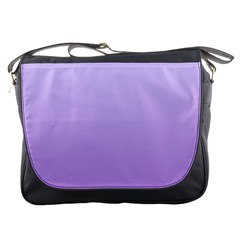 Pale Lavender To Lavender Gradient Messenger Bag by BestCustomGiftsForYou