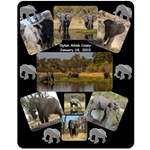 Elephant BLanket - Fleece Blanket (Medium)