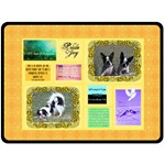Joy Quotes large blanket - Fleece Blanket (Large)