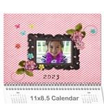Wall Calendar 11 x 8.5  - pink Sweet Life - Wall Calendar 11  x 8.5  (12-Months)