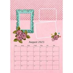 Desktop Calendar 6  X 8 5    Pink Sweet Life By Jennyl   Desktop Calendar 6  X 8 5    Xii27vm3y6ew   Www Artscow Com Aug 2016