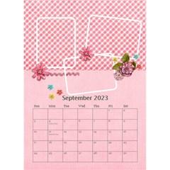 Desktop Calendar 6  X 8 5    Pink Sweet Life By Jennyl   Desktop Calendar 6  X 8 5    Xii27vm3y6ew   Www Artscow Com Sep 2016