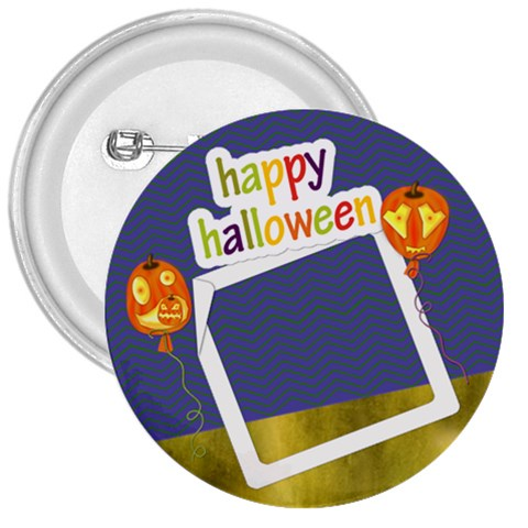 Happy Halloween1 3  Button By Zornitza   3  Button   0yb2aplwnx3c   Www Artscow Com Front