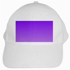 Violet To Wisteria Gradient White Baseball Cap by BestCustomGiftsForYou
