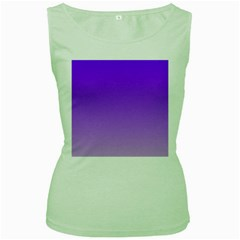 Violet To Wisteria Gradient Womens  Tank Top (green) by BestCustomGiftsForYou