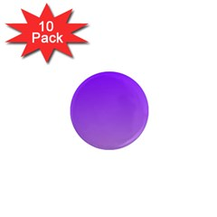 Violet To Wisteria Gradient 1  Mini Button Magnet (10 Pack) by BestCustomGiftsForYou