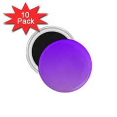 Violet To Wisteria Gradient 1 75  Button Magnet (10 Pack) by BestCustomGiftsForYou