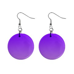 Violet To Wisteria Gradient Mini Button Earrings by BestCustomGiftsForYou