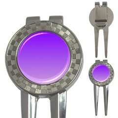Violet To Wisteria Gradient Golf Pitchfork & Ball Marker by BestCustomGiftsForYou