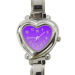 Violet To Wisteria Gradient Heart Italian Charm Watch  by BestCustomGiftsForYou