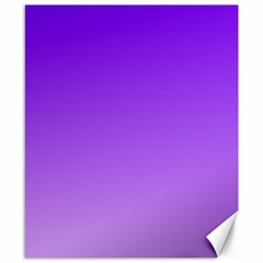 Violet To Wisteria Gradient Canvas 8  X 10  (unframed) by BestCustomGiftsForYou