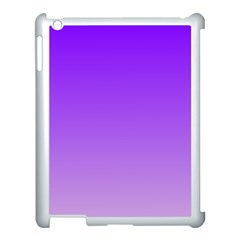 Violet To Wisteria Gradient Apple Ipad 3/4 Case (white) by BestCustomGiftsForYou