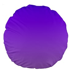 Violet To Wisteria Gradient 18  Premium Round Cushion  by BestCustomGiftsForYou